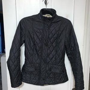 Barbour Flyweight Cavalry Quilted Jacket in Black